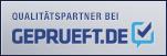 Siegel - Qualitätspartner bei Geprueft.de